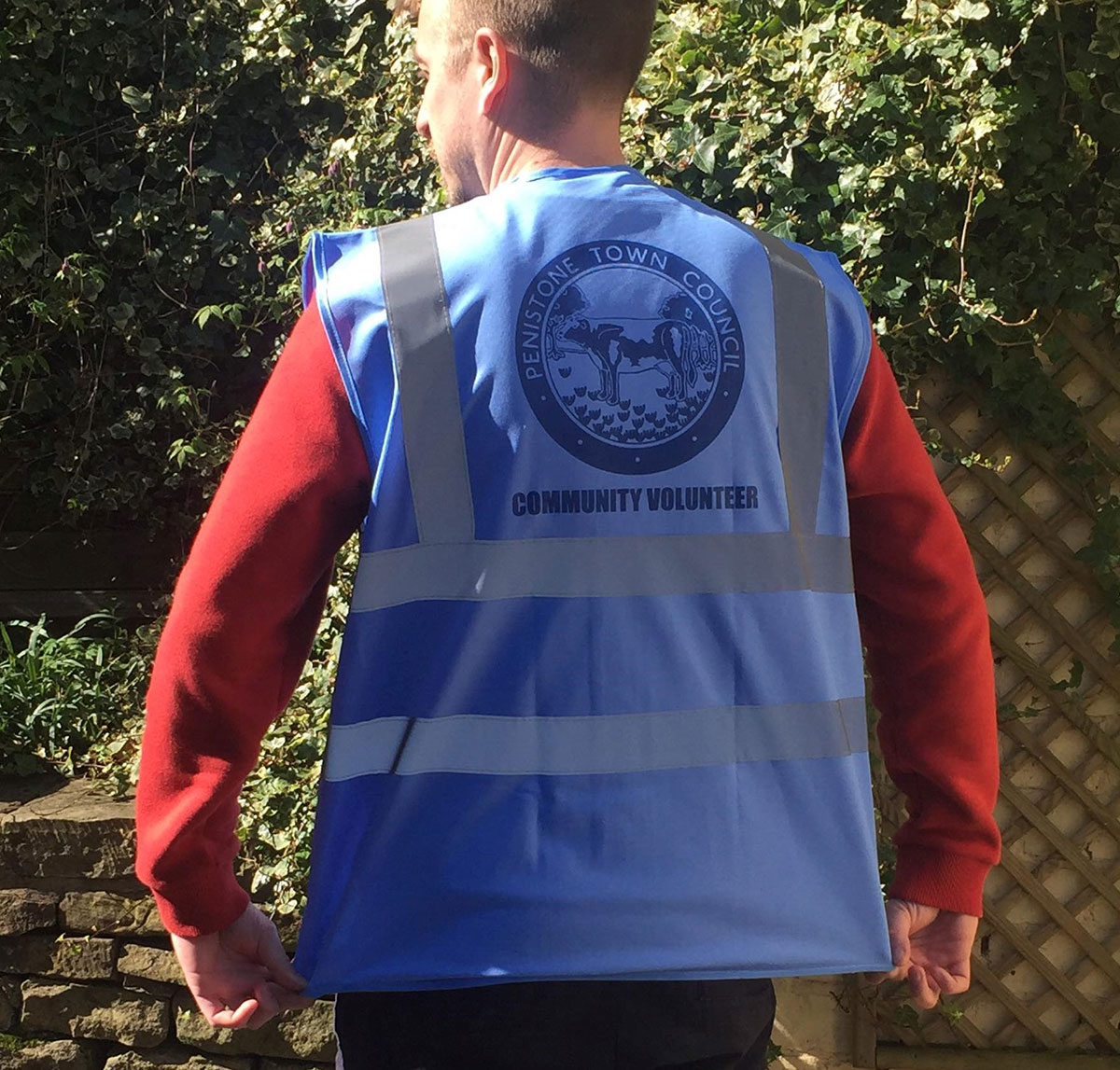 Image of vest to be worn by volunteers