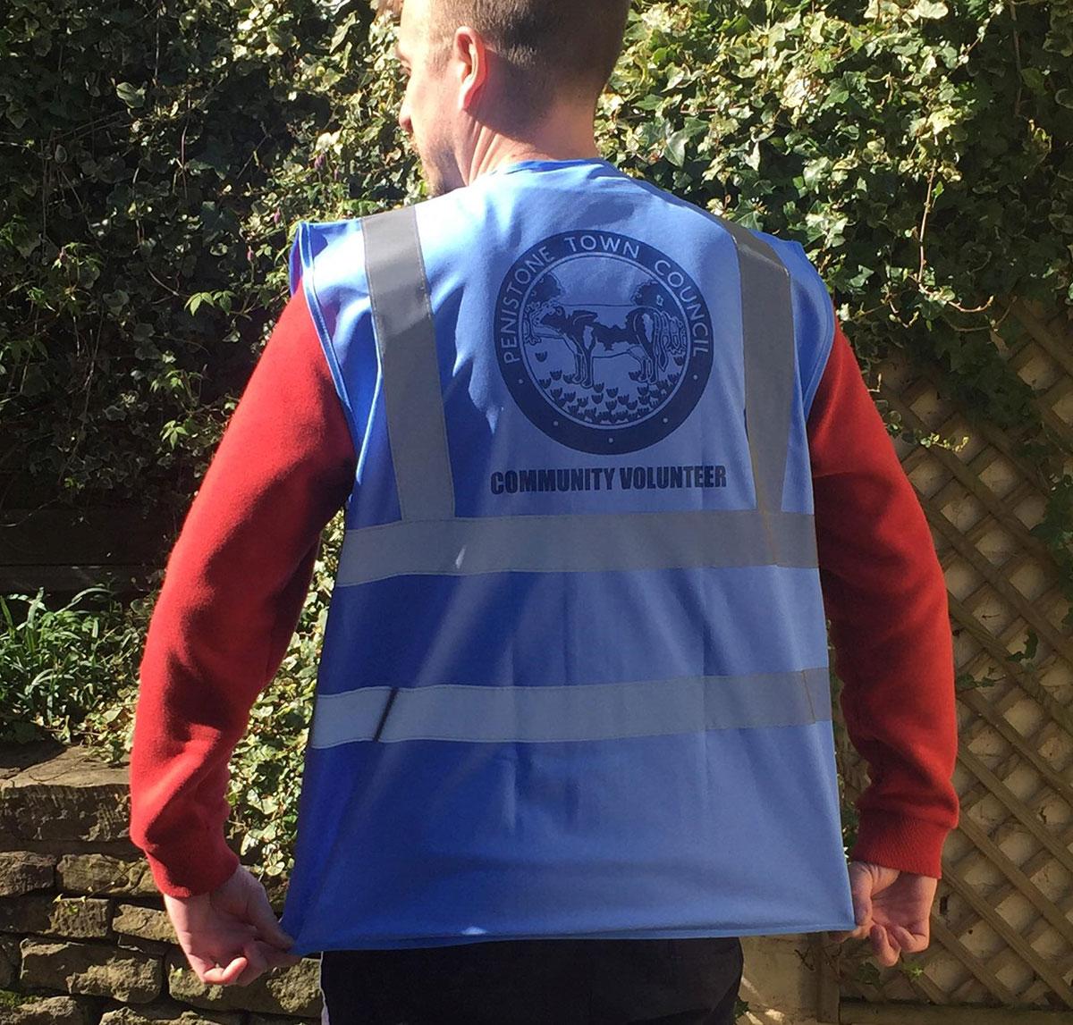 Image of vest to be worn by volunteers